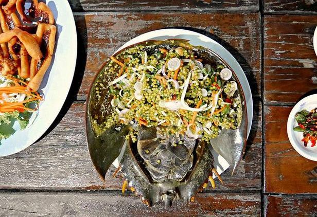 фото блюдо из мечехвоста