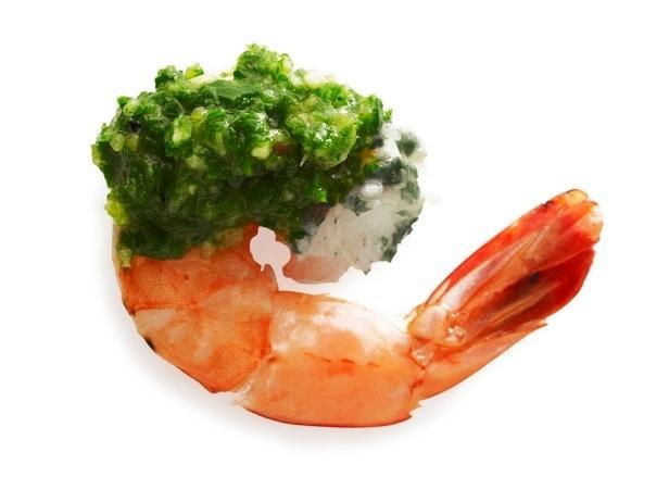 29. Креветки с зеленым соусом