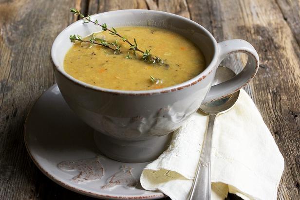 Фото Гороховый суп-пюре с приправой карри