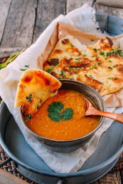 Фото Чечевичный суп с приправой карри