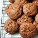 Шоколадное печенье из теста для брауни