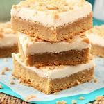 Пирожные «Брауни блонди» с творожным кремом