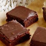 Брауни с шоколадной глазурью