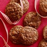 Шоколадное печенье-брауни с орехами