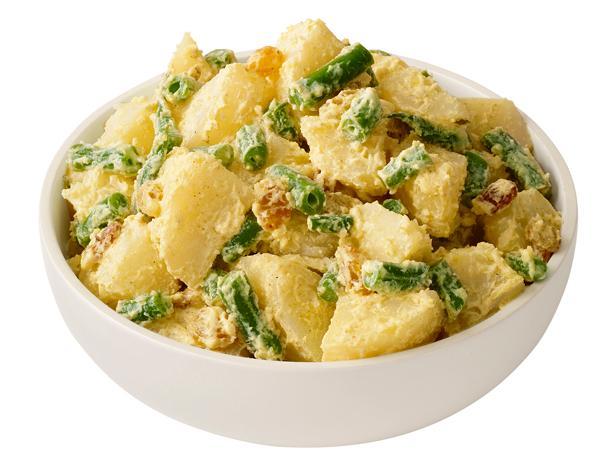 Фото Картофельный салат со стручковой фасолью и карри