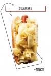 хот-дог с чипсами с морской солью и уксусом