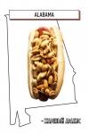 хот-дог с жареным арахисом
