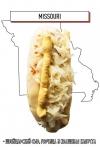 хот-дог с расплавленным швейцарским сыром, горчицей и квашеной капустой