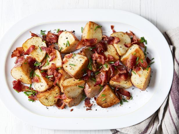 Фото Жареный картофель с беконом