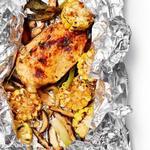 Курица и кукуруза с медовым маслом в фольге
