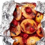 Десерт «Имбирный персик Мельба» в фольге