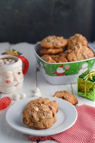 Фото Безглютеновое ванильное печенье с клюквой
