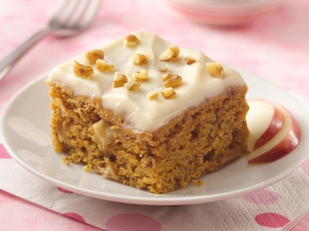 Фото Тыквенное пирожное с творожным кремом