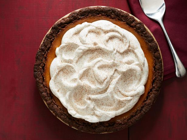 Фото Тыквенный пирог с имбирным коржом