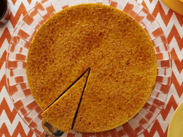 Фото Творожно тыквенный чизкейк с крем-брюле