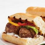 Сэндвич с фрикадельками на гриле