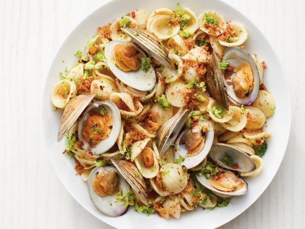 Фото Паста с моллюсками и брокколи
