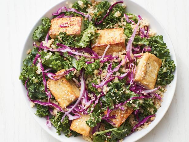Фото Салат из капусты с тофу