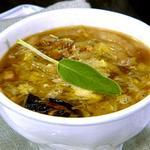 Наваристый овощной суп с тыквой и шалфеем
