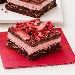 Клубнично-шоколадные пирожные
