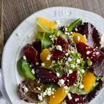 Салат из маринованной свеклы с апельсиновой заправкой