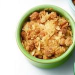 Яблочно-клюквенный крисп с картофельными чипсами