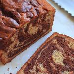 Мраморный шоколадно-тыквенный кекс с апельсиновым маслом