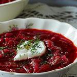 Суп из савойской капусты со свеклой