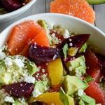 Салат со свеклой и цитрусами