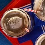 Домашнее корневое пиво с мороженым