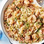 Джамбалайя с рисом и креветками