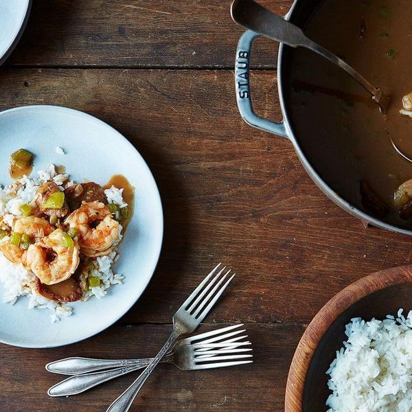 Фото Луизианский гамбо с креветками и колбасой