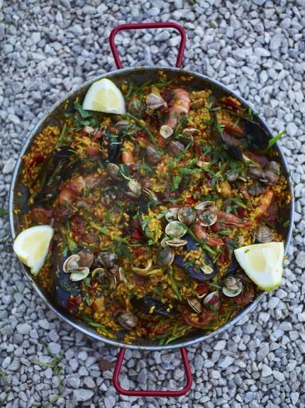 Фото Паэлья с морепродуктами от Джейми Оливера