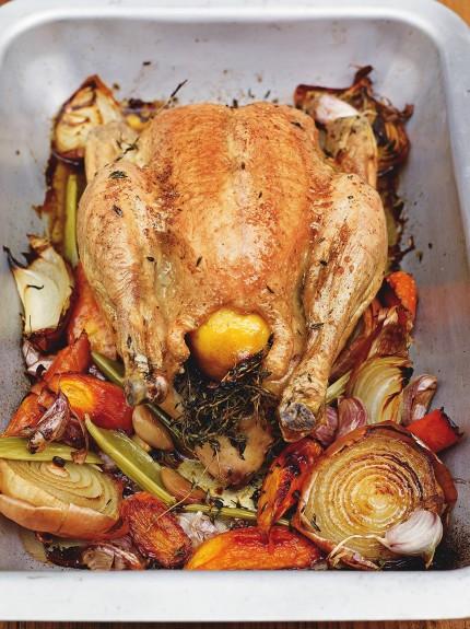 Фото Идеальная жареная курица от Джейми Оливера