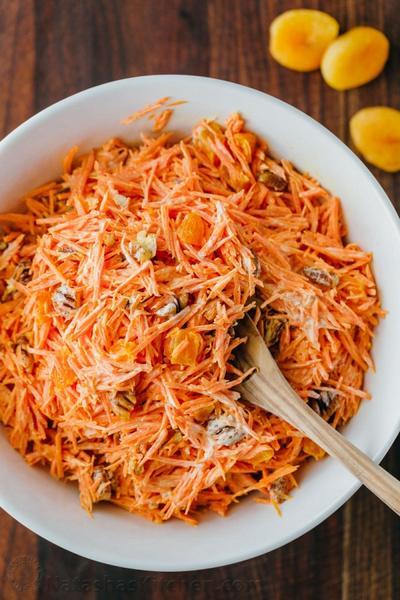 Фото Морковный салат с клюквой