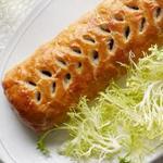 Грибной Веллингтон с морковно-сливочным соусом