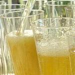 Коктейль из шампанского с манго и пряностями