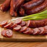 Домашняя свиная колбаса андуй