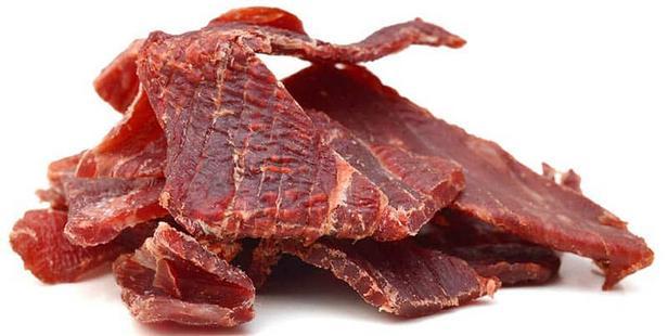 Фото Домашнее вяленое мясо джерки из говядины
