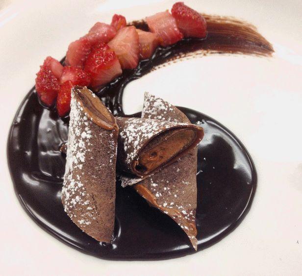 Фото Блины с шоколадным муссом