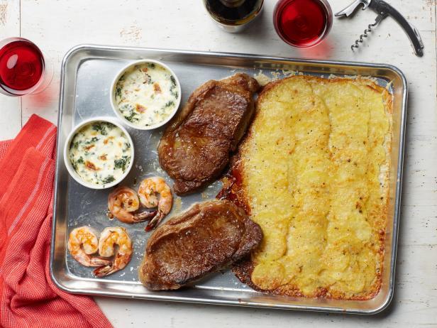 Стейк Нью-Йорк на романтический ужин для двоих