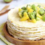 Блинный торт с миндальным кремом «Мон Сен-Мишель»