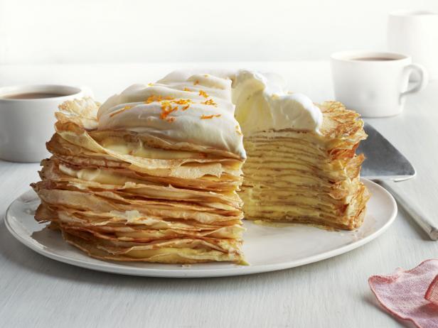 Фото Блинный торт с апельсиновым кремом