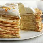 Блинный торт с апельсиновым кремом
