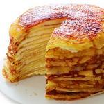 Сладкий блинный торт с кремом из творожного сыра