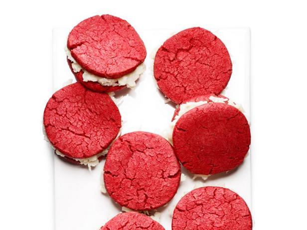 Печенье-сэндвич «Красный бархат»