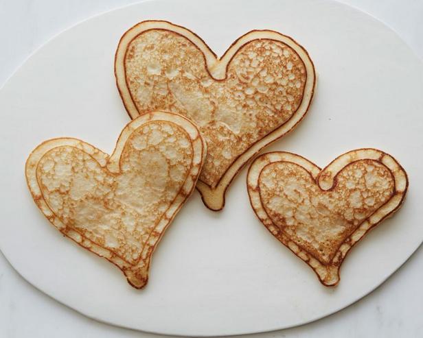 Панкейки «Сердечки»