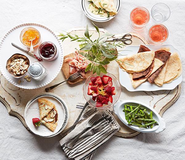 Фото Блины с разными начинками для шведского стола или фуршета