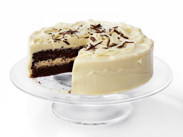Черно-белый слоеный торт