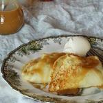 Блины с тыквенно-яблочной начинкой и домашним мороженым